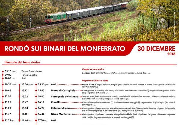 Rondò sui binari del Monferrato: treno storico da Torino a Nizza