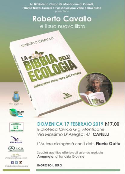 """""""La Bibbia dell'ecologia. Riflessioni sulla cura del Creato"""": Roberto Cavallo a Canelli"""