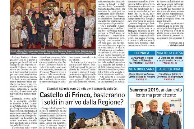 Prima pagina – 8 febbraio 2019
