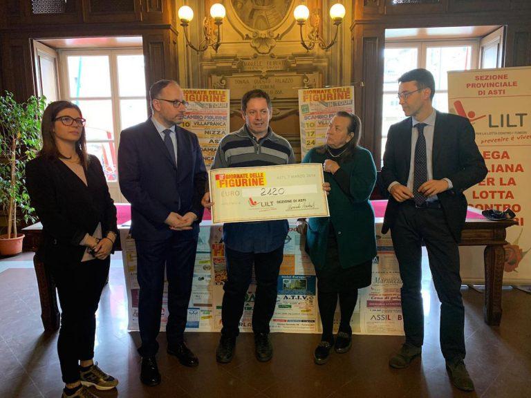 Asti, grazie alle Giornate delle Figurine raccolti oltre 2000 euro per la Lilt