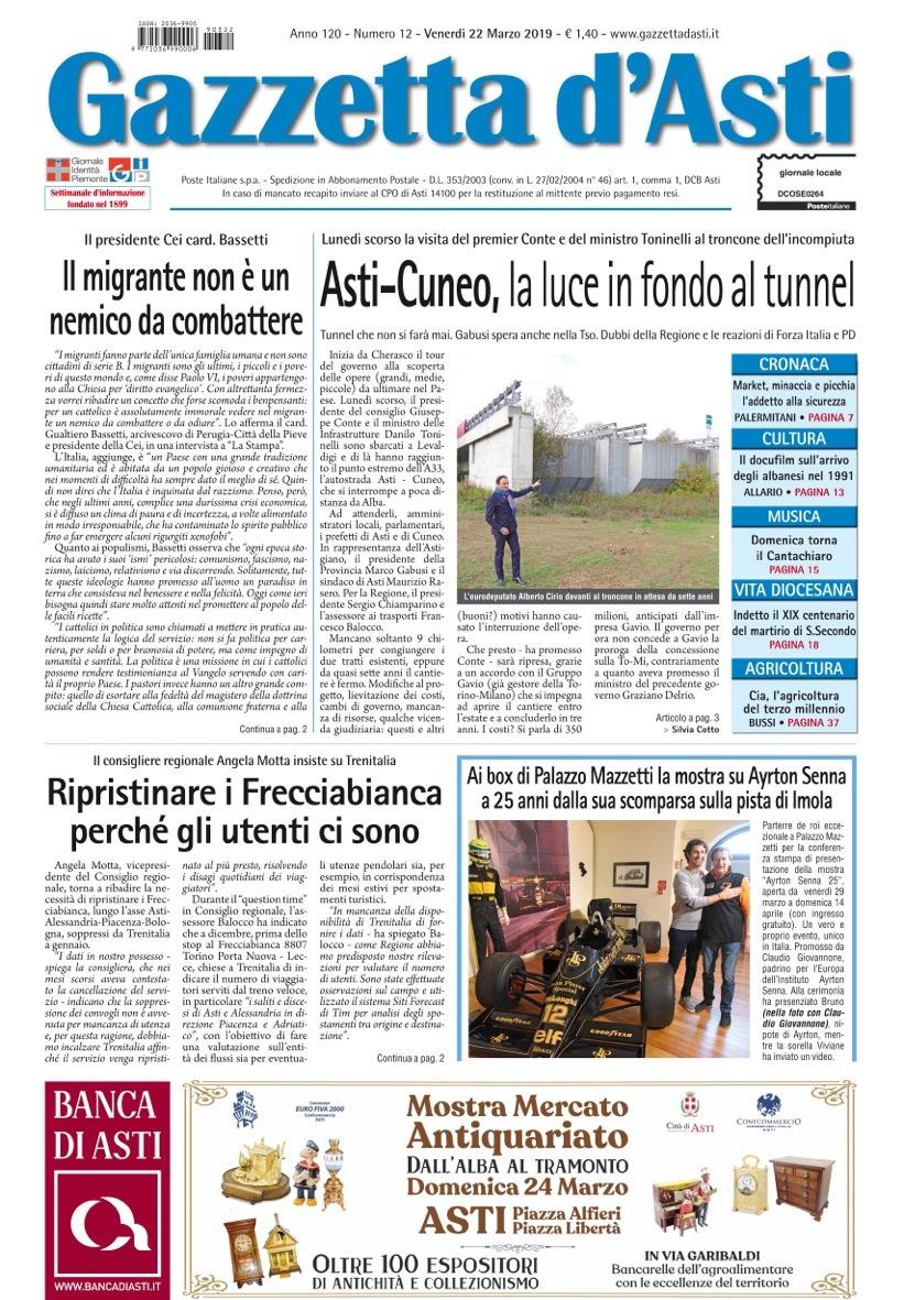 Prima pagina – 22 marzo 2019