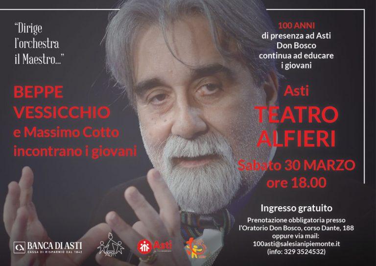 Beppe Vessicchio all'Alfieri di Asti per i 100 anni della presenza salesiana in città