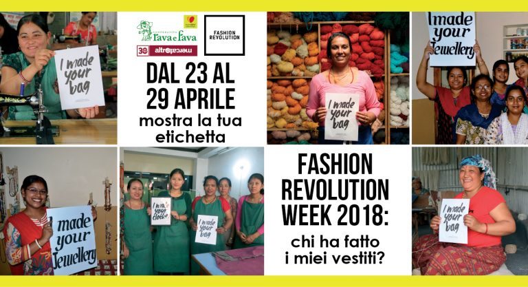 Asti, alla Cooperativa della Rava e della Fava torna la Fashion Revolution