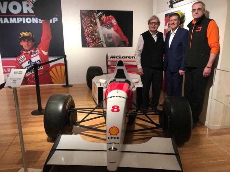 Vittorio Sgarbi ad Asti per la mostra su Ayrton Senna