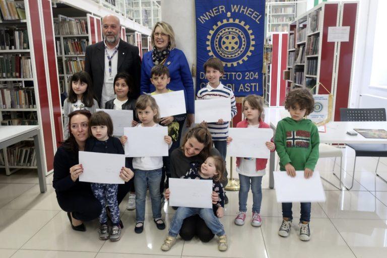 Consegnati alla Biblioteca Astense i Premi Topo 2019 con il sostegno dall'Inner Wheel Club di Asti