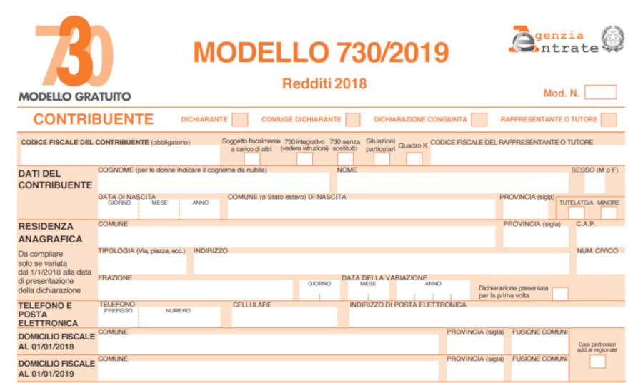 Modello 730 precompilato - Agenzia delle Entrate