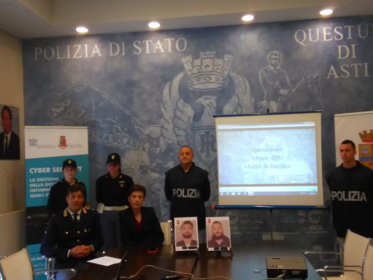 Asti, Operazione Face Off: la polizia arresta due rapinatori in trasferta