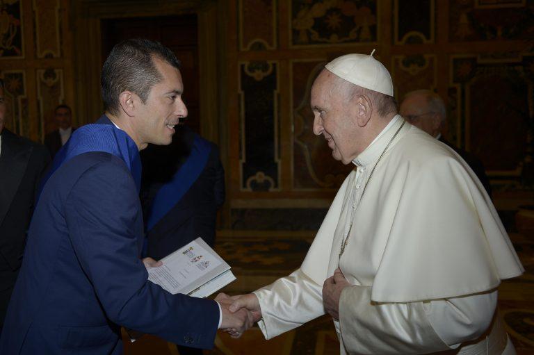 Il presidente della Provincia di Asti in visita da papa Francesco
