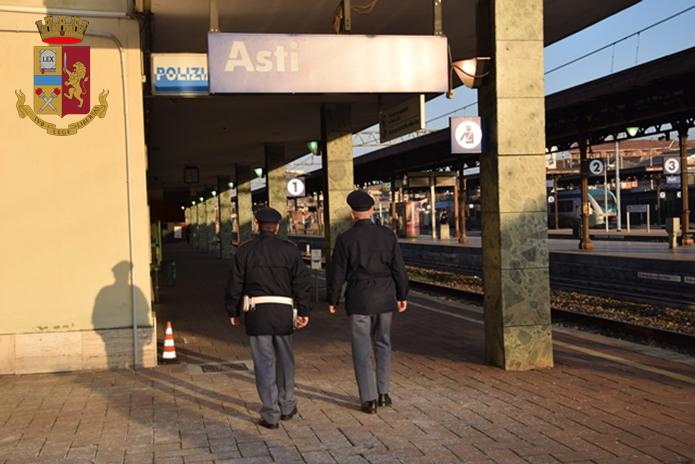 Asti, arrestato dalla polfer a bordo di un treno per un ordine di carcerazione