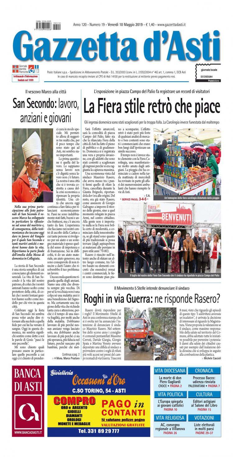 Prima pagina – 10 maggio 2019