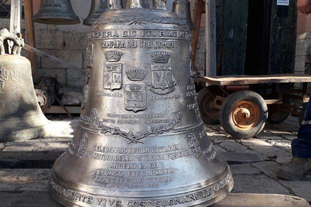 La campana dei tre comuni donata a Montiglio Monferrato
