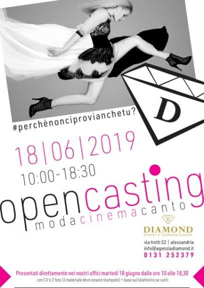Open Casting Day all'Agenzia Diamond di Alessandria