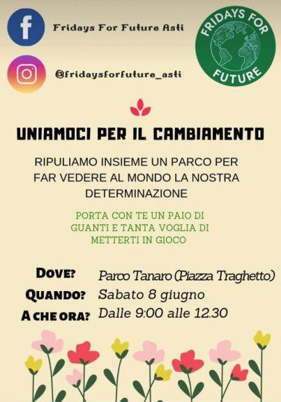 Asti, gli studenti ambientalisti puliscono il Parco LungoTanaro