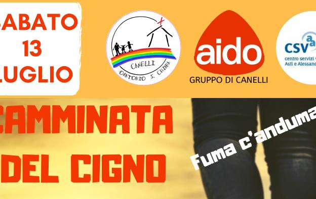 """""""Camminata del cigno – Fuma c'anduma!""""  a Canelli con Aido"""