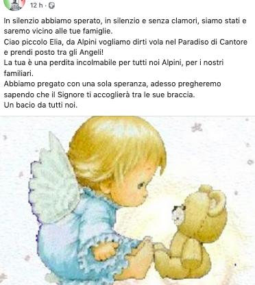 Domani a Castiglione i funerali del piccolo Elia