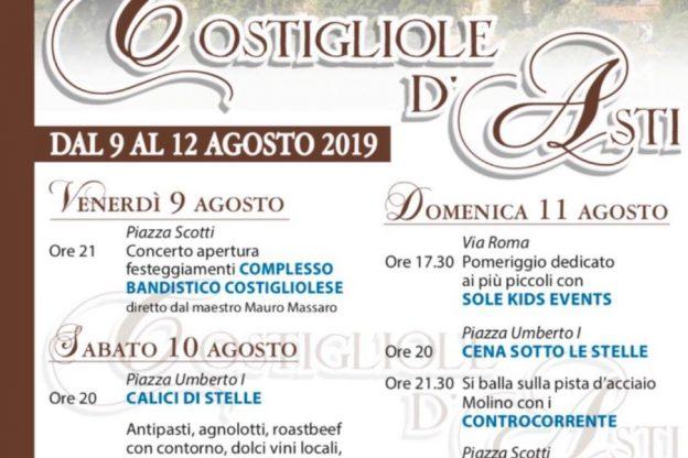 Festa estiva in paese a Costigliole d'Asti