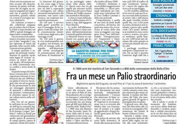 Prima pagina – 2 agosto 2019