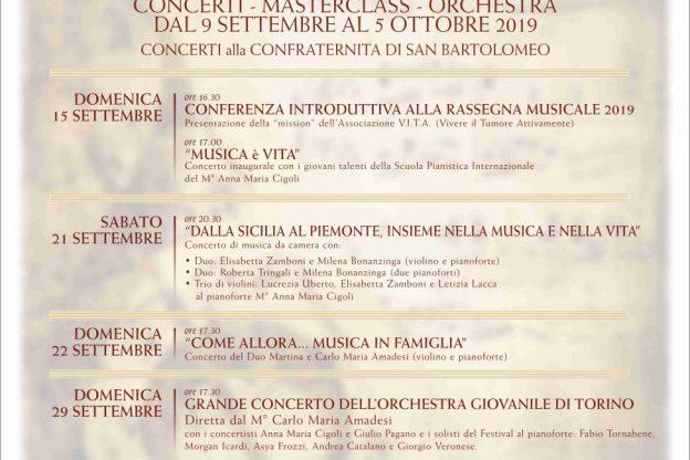 Cinque concerti a Castelnuovo Don Bosco con V.I.T.A. ODV