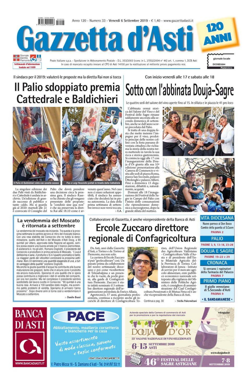 Prima pagina – 6 settembre 2019