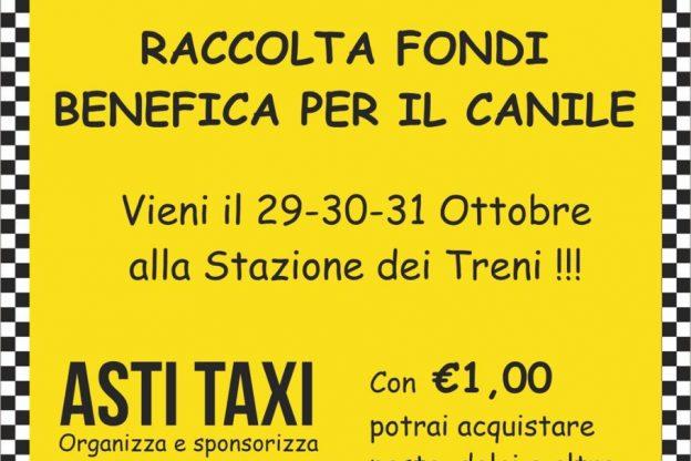 Raccolta fondi di Asti Taxi per il canile