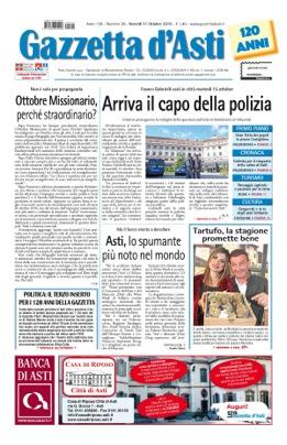 Prima pagina – 11 ottobre 2019