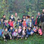 Asti, in Valle Botto i bambini piantano alberi