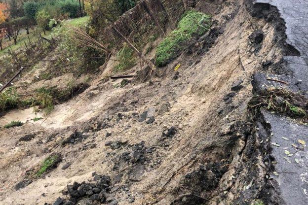 Maltempo, 19 strade dell'Astigiano chiuse per frane o sfondamenti