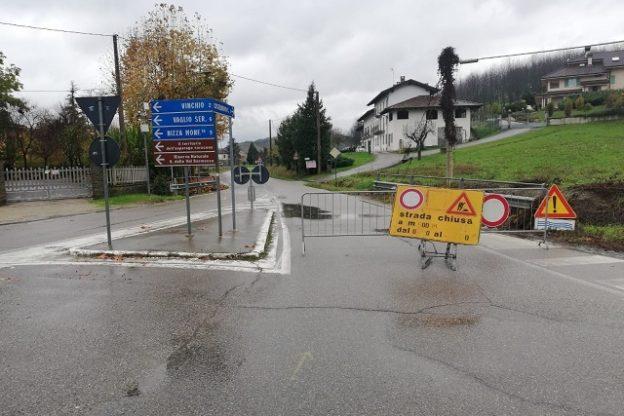 Maltempo, frane e smottamenti nell'Astigiano dopo l'ondata di pioggia