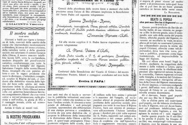 La Gazzetta d'Asti compie 120 anni: la fotogallery delle prime pagine storiche