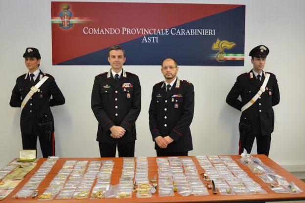 Asti, sequestro di gioielli per oltre 100 mila euro a una famiglia sinti