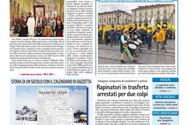 Prima pagina – 13 dicembre 2019
