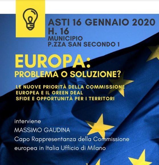 """Europa: problema o soluzione?"": Massimo Gaudina ad Asti"