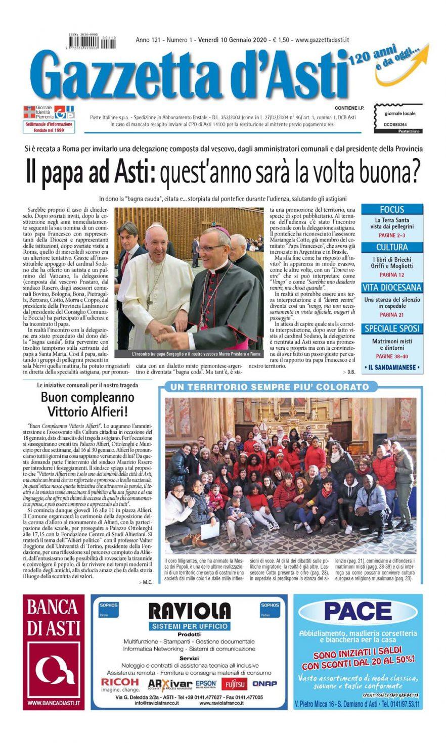 Prima pagina – 10 gennaio 2020