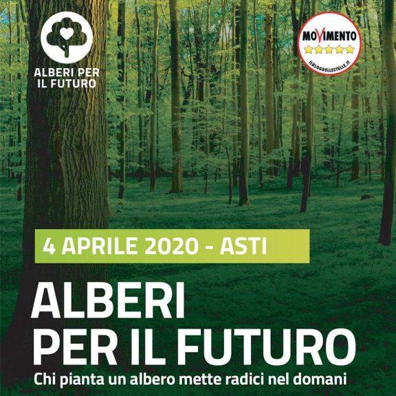 """Ad Asti """"Alberi per il futuro"""" del MoVimento 5 Stelle"""