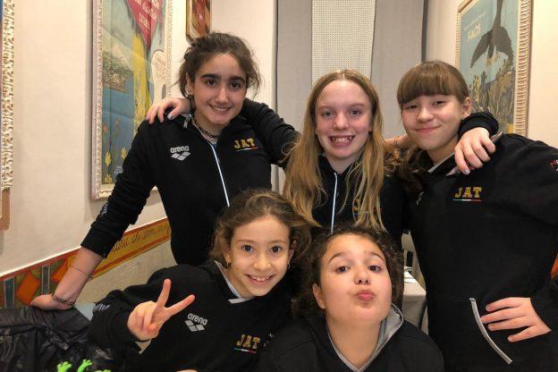 Ottime prestazioni degli atelti dello Junior Pentathlon Asti al Grand Prix Esordienti A di nuoto