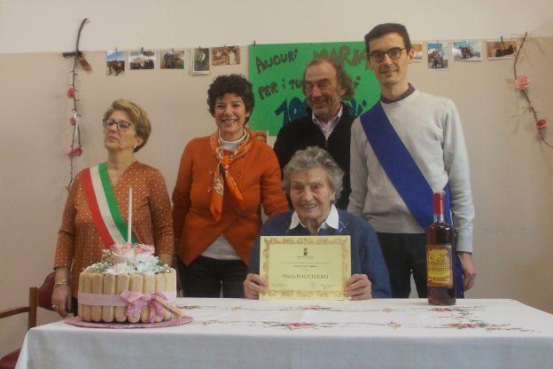 A Cocconato Maria Bauchiero festeggia 100 anni