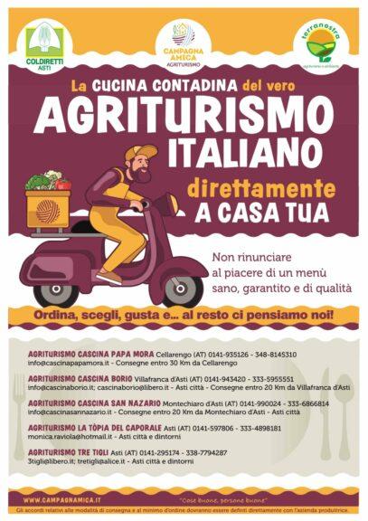 """Coldiretti Asti: ecco gli agriturismi """"direttamente a casa tua"""""""