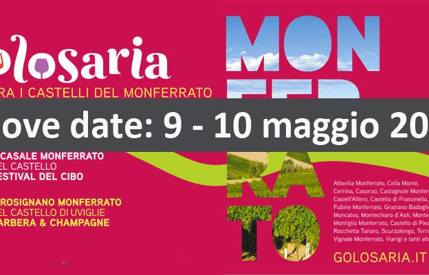 Golosaria tra i castelli del Monferrato rinviata a maggio