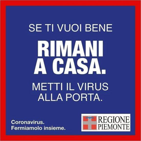 """Coronavirus, il Piemonte lancia una campagna di sensibilizzazione: """"Se ti vuoi bene rimani a casa"""""""