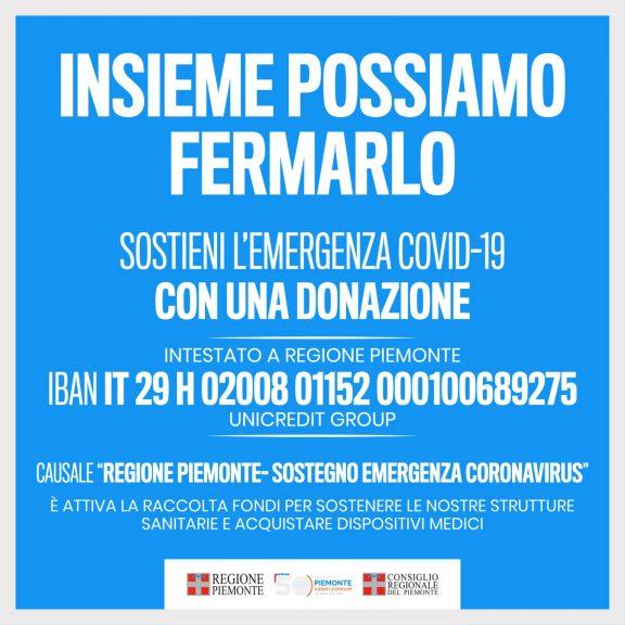 """Coronavirus, dalla Regione Piemonte la campagna """"Insieme possiamo fermarlo"""""""
