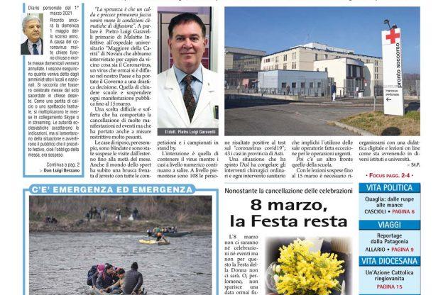 Prima pagina – venerdì 6 marzo 2020