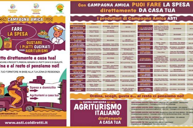 """""""Campagna Amica"""": i prodotti di 28 aziende agricole dell'Astigiano a domicilio"""