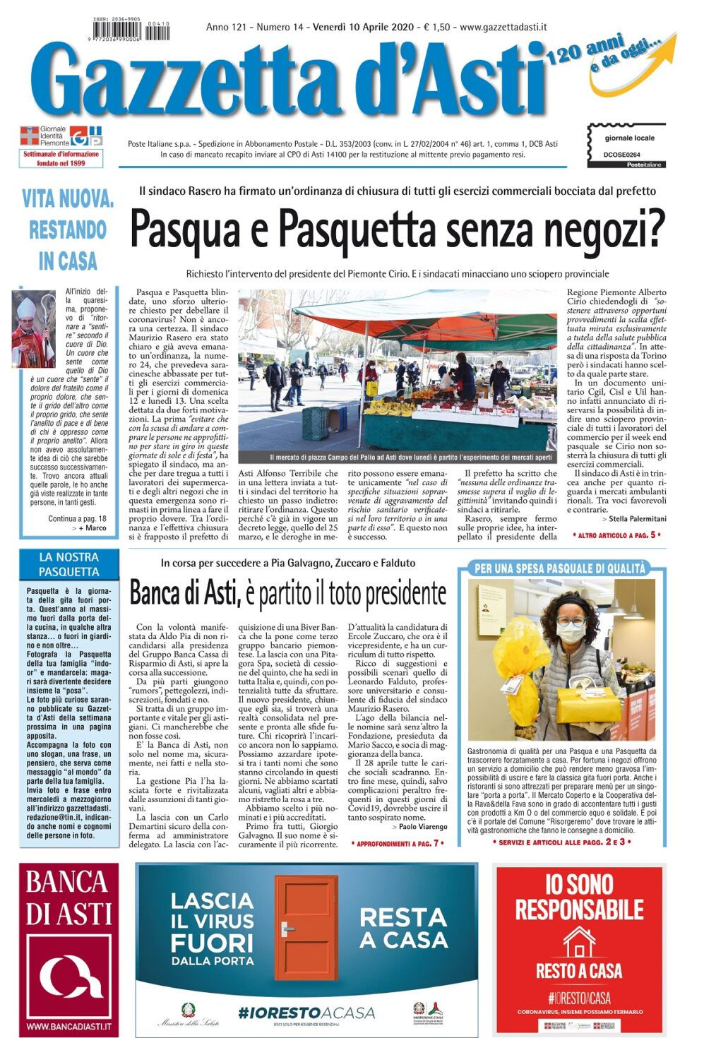 Prima pagina – 10 aprile 2020