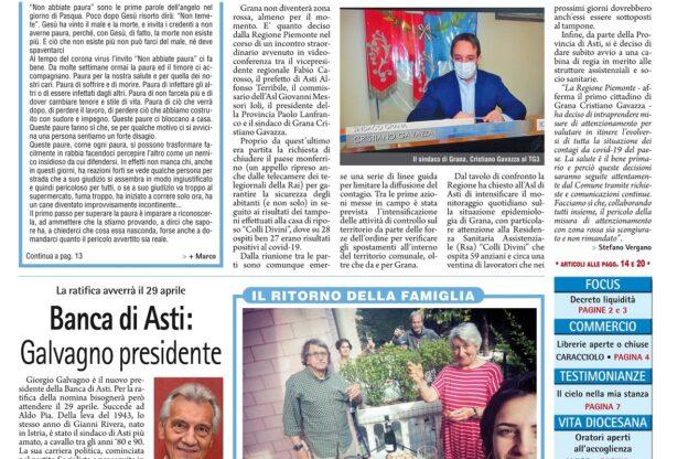 Prima pagina – 17 aprile 2020
