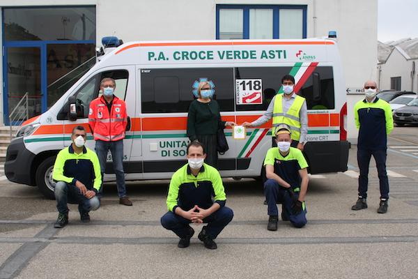 I dipendenti Smurfit Kappa di Asti supportano la Croce Verde nella lotta al covid-19