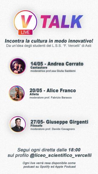 Gli studenti del Vercelli organizzano V-Talk