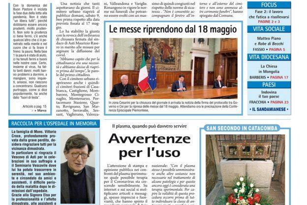 Prima pagina – 8 maggio 2020