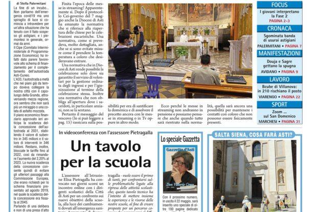 Prima pagina – venerdì 15 maggio 2020