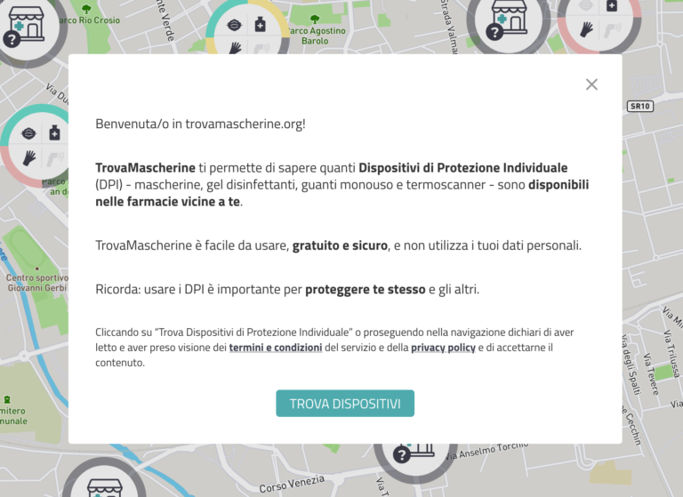Anche per Asti i servizi di trovamascherine.org