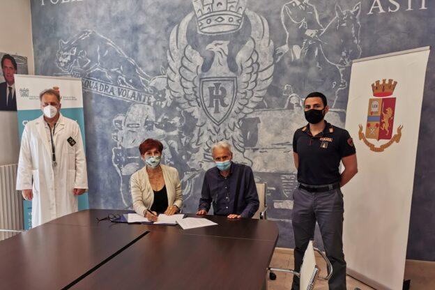 Asti, firmato un protocollo tra polizia e Asl per i test sierologici al personale della questura
